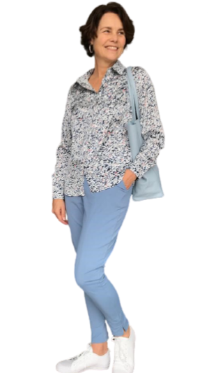 travel broek azurro blauw