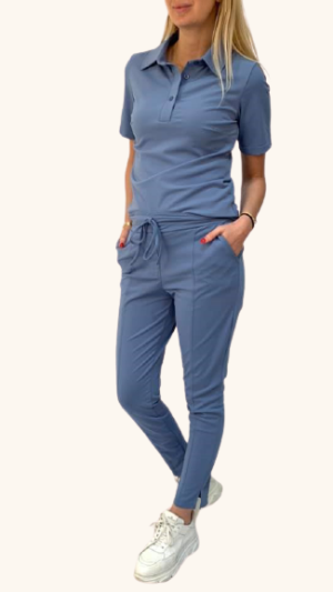travel broek blauw azurro