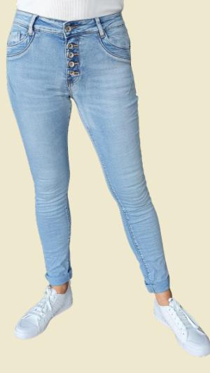 jeans jewelly baggie knopp sluiting