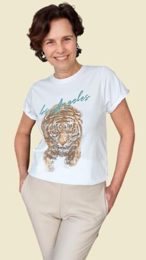 shirt tijger print savinni