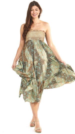 zijde straples jurk zijde