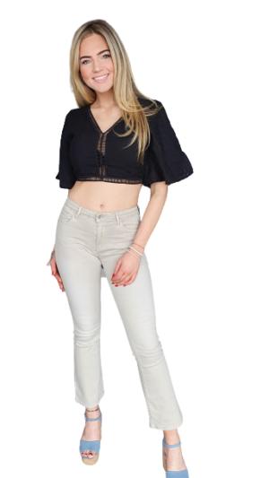 flair jeans zand kleur