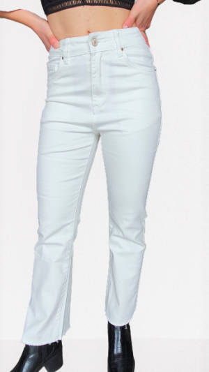 Jeans flair white