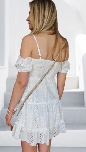jurk schouderloos wit