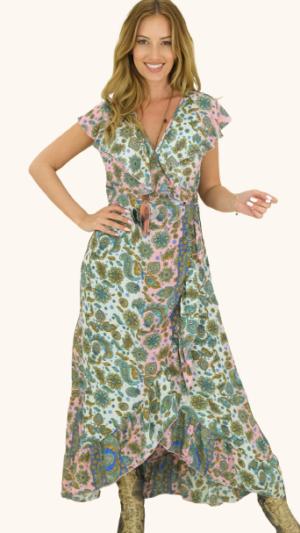 zijde bohemian jurken