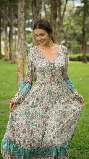 bohemian jurken lange mouwen