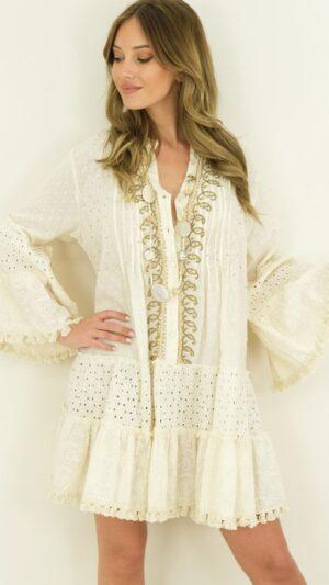 Bohemian jurk beige