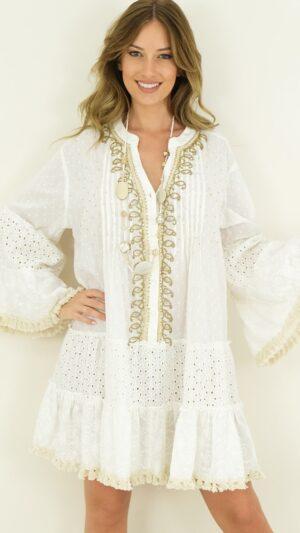 Bohemian jurk wit