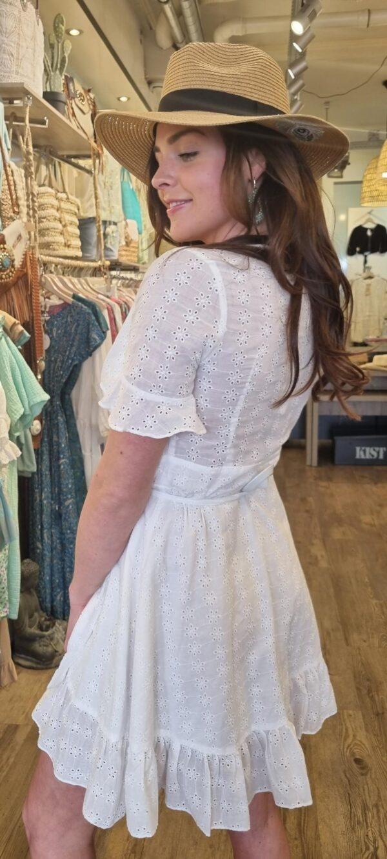 wikkel jurk wit