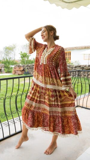 bohemian jurken herfst/winter